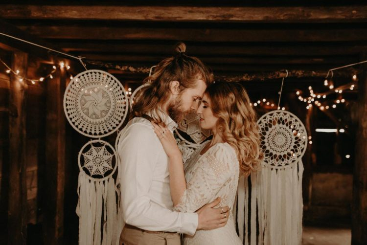Boho Farm Wedding Shoot With Lots Of Macrame