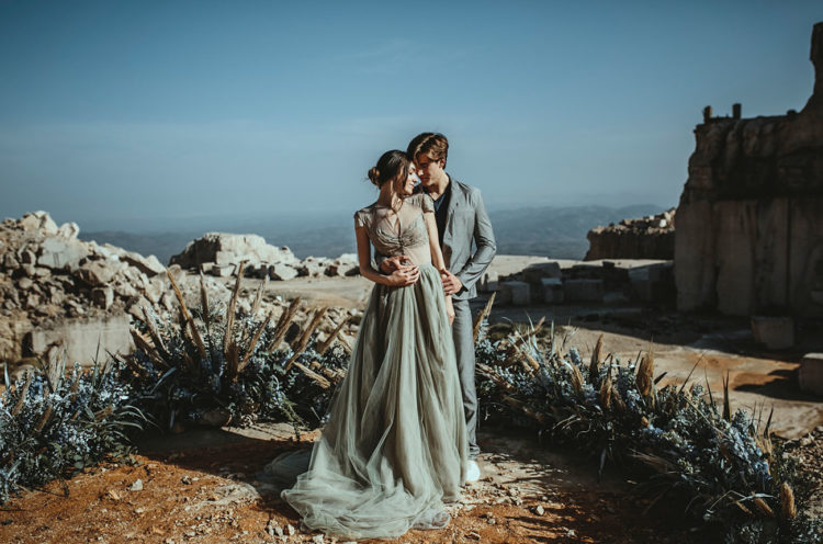 Abandoned Marble Quarry Elopement In Greys
