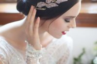02 a gorgeous rhinestone feather headpiece is an amazing accessory for any bridal look