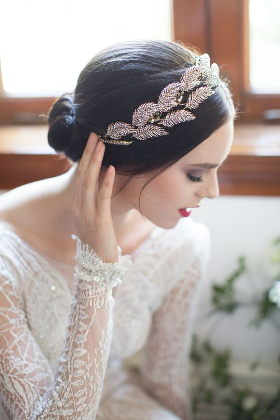 a gorgeous rhinestone feather headpiece is an amazing accessory for any bridal look