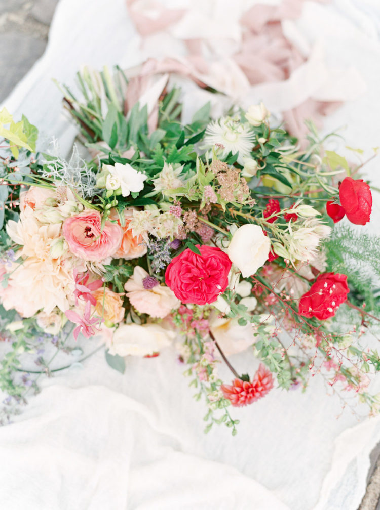 All the gorgeous blooms were designed by the bride herself, who is a well-known wedding photographer