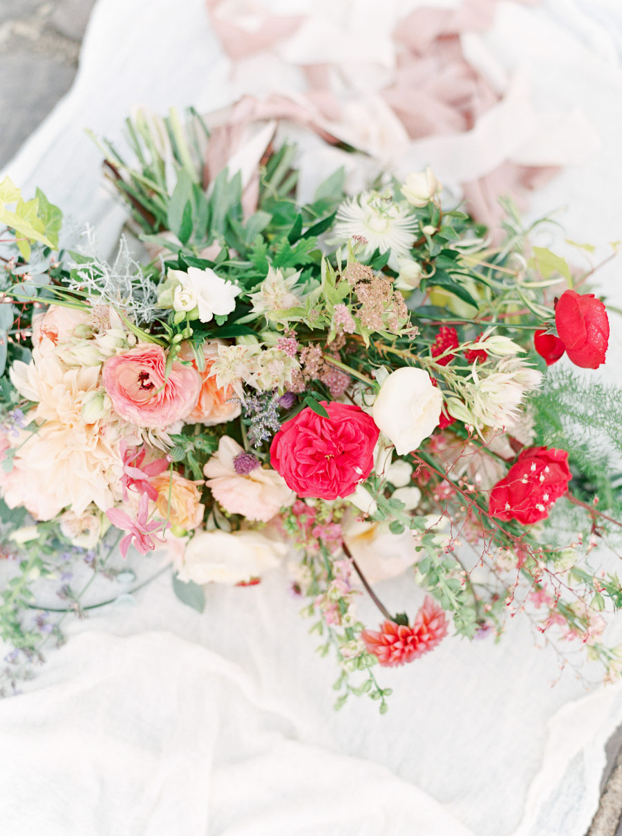 All the gorgeous blooms were designed by the bride herself, who is a well known wedding photographer