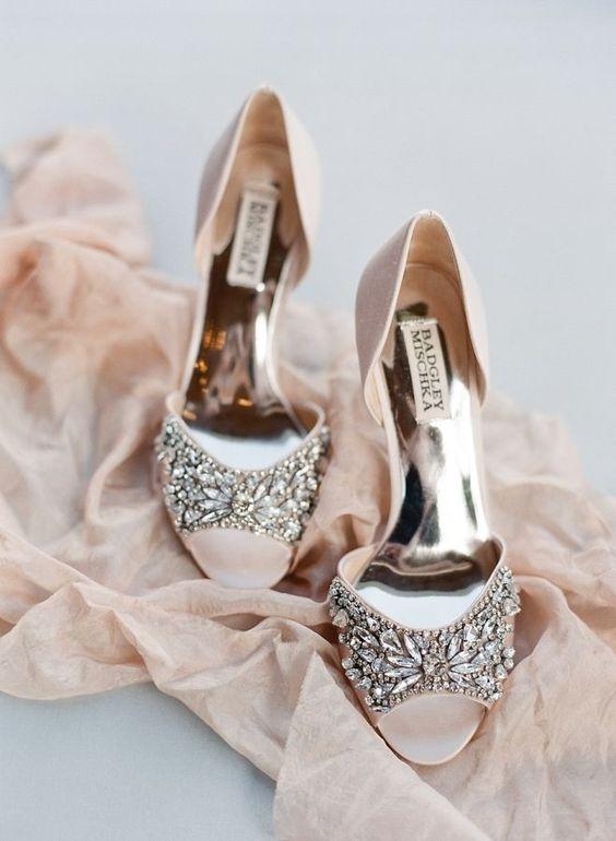 30 Stunning Embellished Wedding Shoes