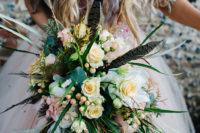cool and creatively designed bride's bouquet