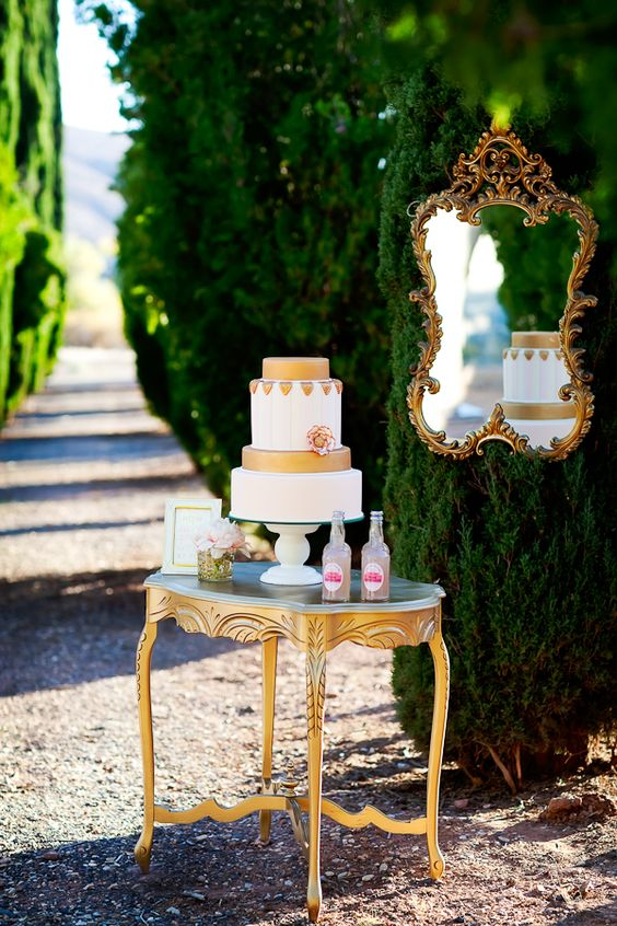 if it's an outdoor wedding reception, keep your cake far from the sun rays and make sure no bugs are eating it
