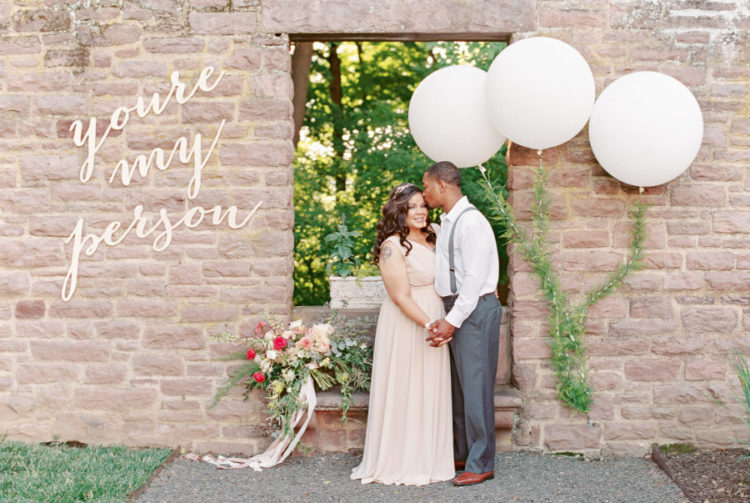 The bride surprised the groom with a calligraphy quote that they told each other at school