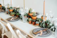 08 This is a bold boho chic tablescape, which doesn't require much effort to recreate