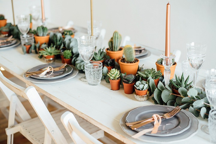 This is a bold boho chic tablescape, which doesn't require much effort to recreate
