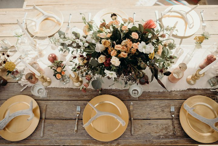 gorgeous wedding tablescape for a desert wedding