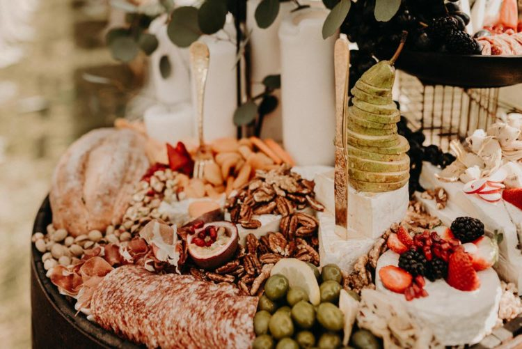 There were gorgeous appetizers and fruits served for the shoot