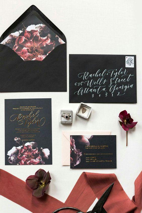 25 Refined Halloween Wedding Stationery Ideas