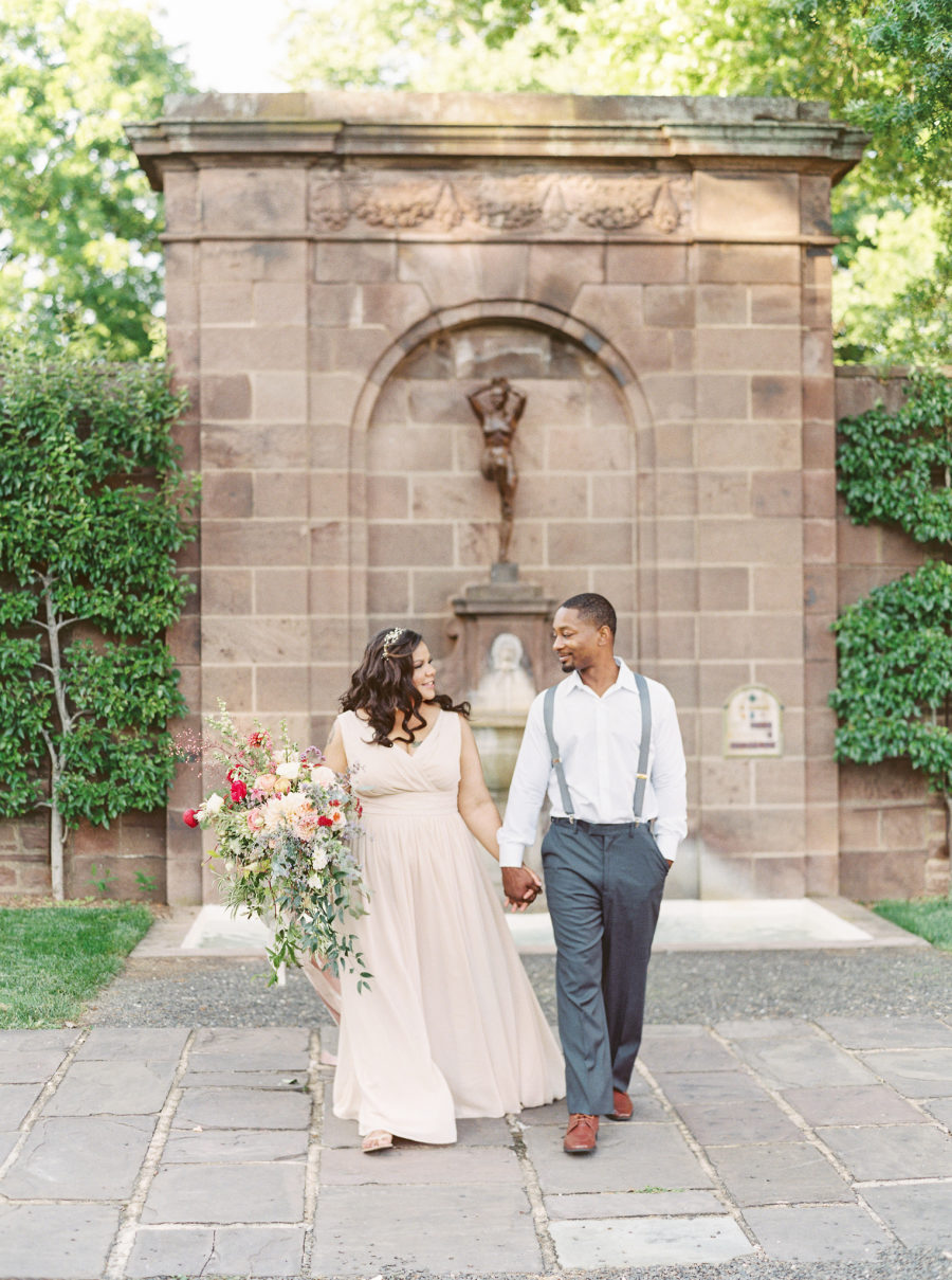 The beautiful garden and couple created a fantastic ambience for the shoot