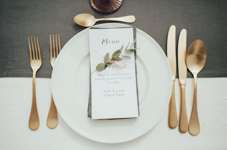 modern stationary for a mountain wedding