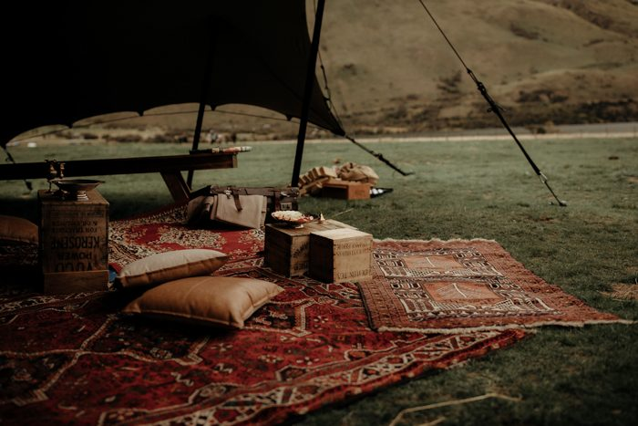 The tent was styled boho chic, free spirited and timelessly elegant at the same time