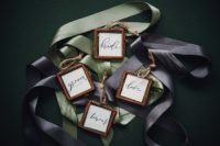 10 The wedding cards were in copper frames with twine, which is a bright alternative for usual ones