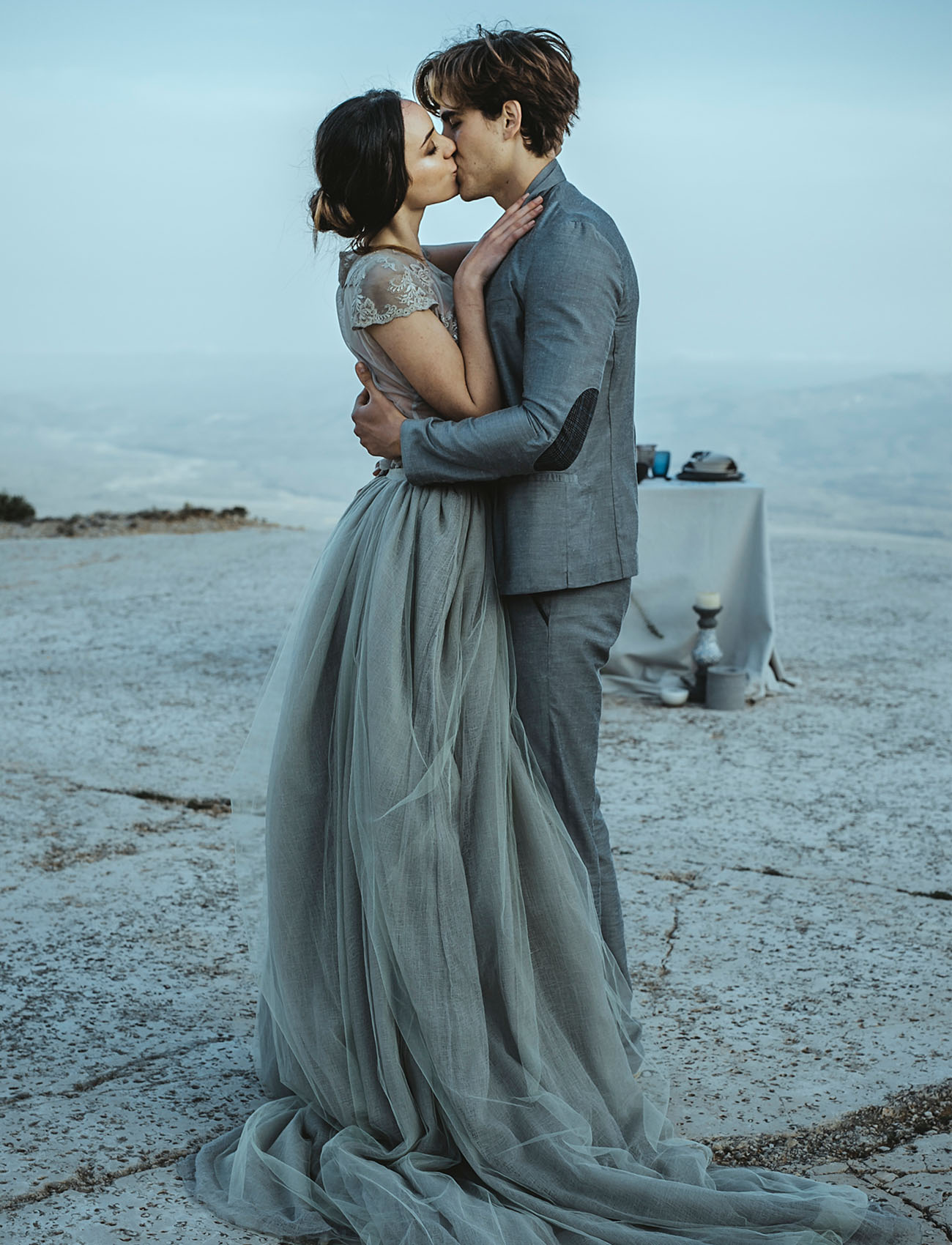 What a gorgeous moody elopement
