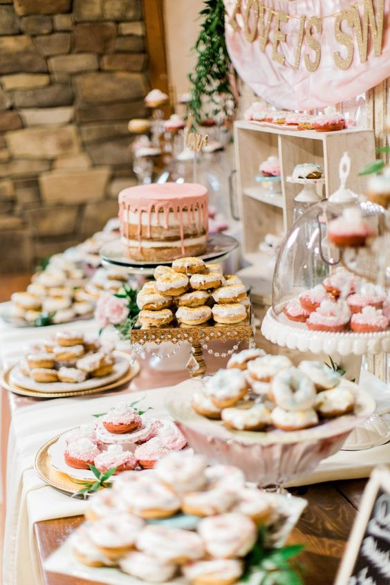 serve the sweets in various ways, some of them lower, some of them higher to display them at their best