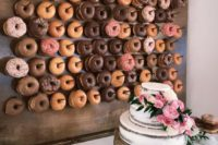 17 if you are serving donuts, make a trendy donut wall to display them with style