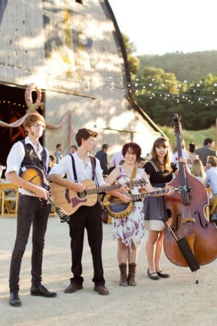 a band is sure to bring more fun to your wedding and make it super cheerful