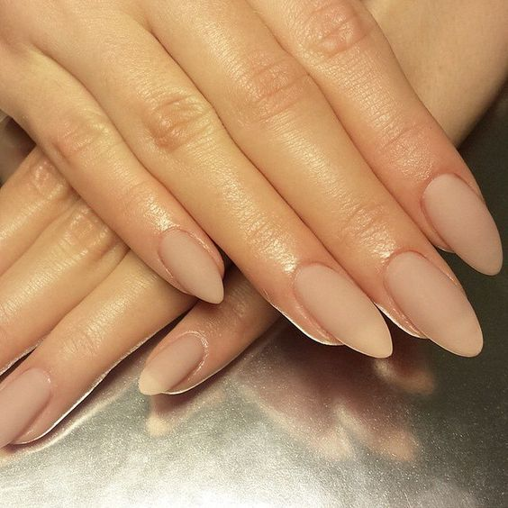 matte nude nails are a timeless option for absolutely any season and for many bridal styles