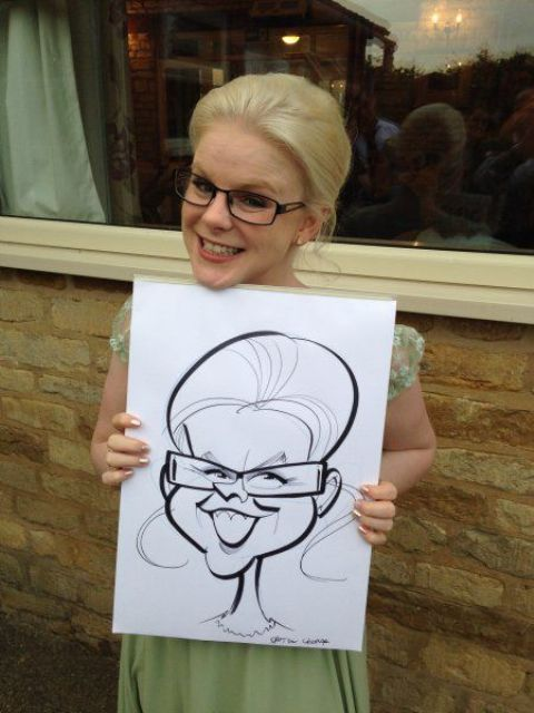 a caricaturist is one of the most popular ideas for wedding entertainment and it's getting even more popular