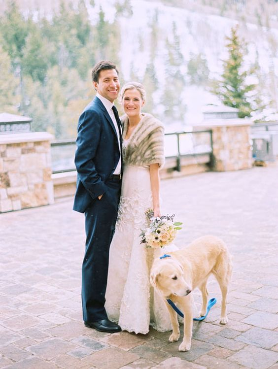 a faux fur shawl is a timeless idea for any wedding and will keep you warm on a chilly day