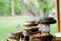 24 if you don't have a cake but pies, display them on similar stands and highlight them