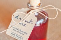 25 Drink Me favors – some bold drinks are amazing for Halloween and look wow
