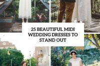 25 beautiful midi wedding dresses to stand out cover