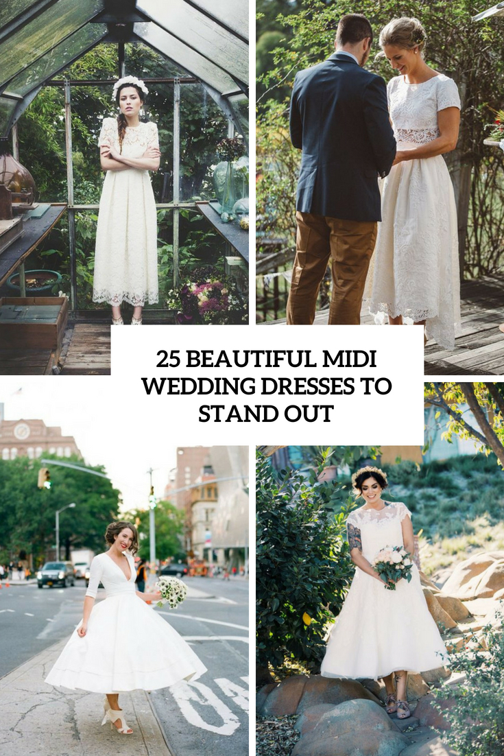 25 Bridal Midi Wedding Dresses To Stand Out