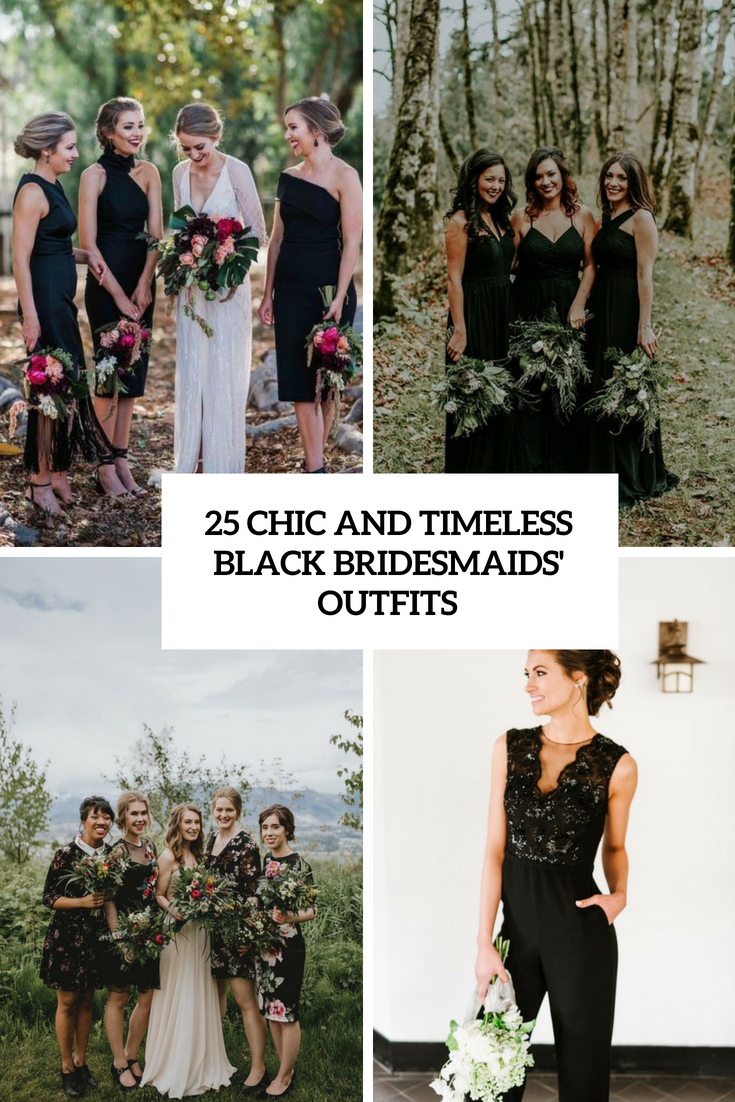 25 Chic And Timeless Black Bridesmaids' Outfits