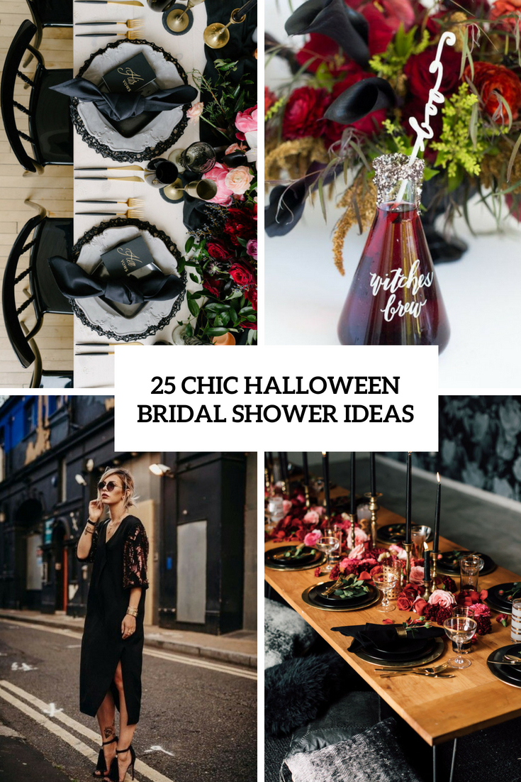 25 Chic Halloween Bridal Shower Ideas