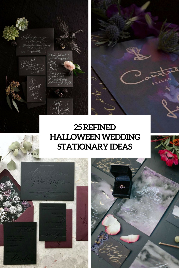25 Refined Halloween Wedding Stationery Ideas