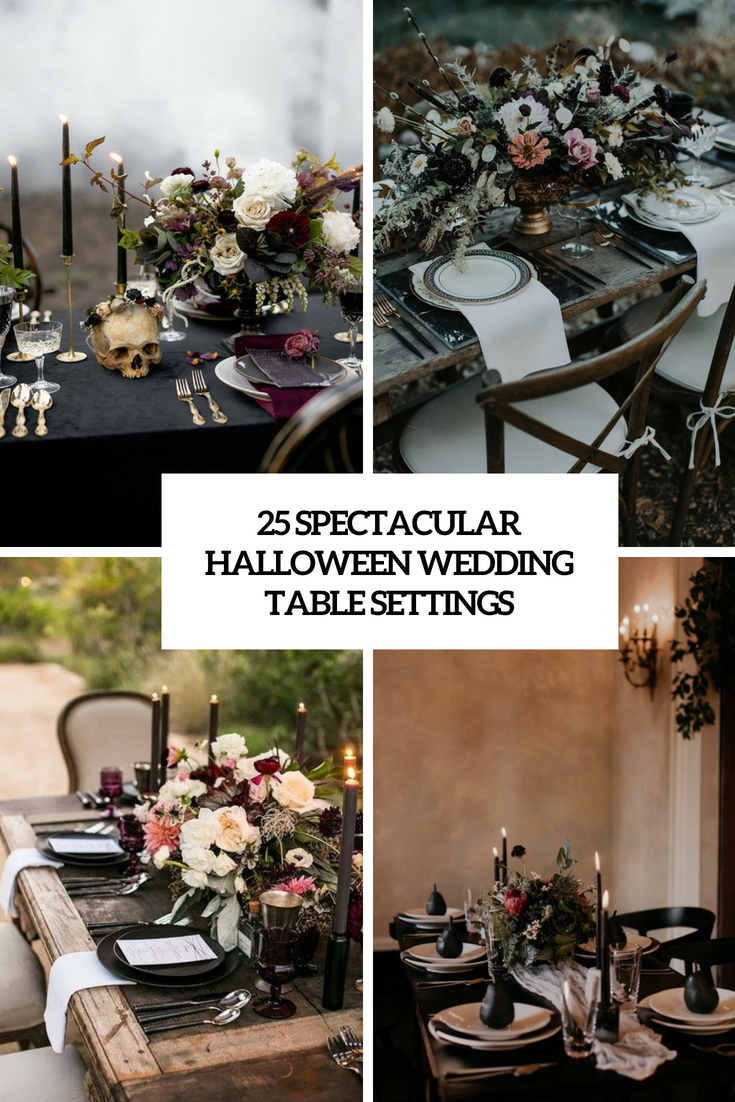 25 Spectacular Halloween Wedding Table Settings