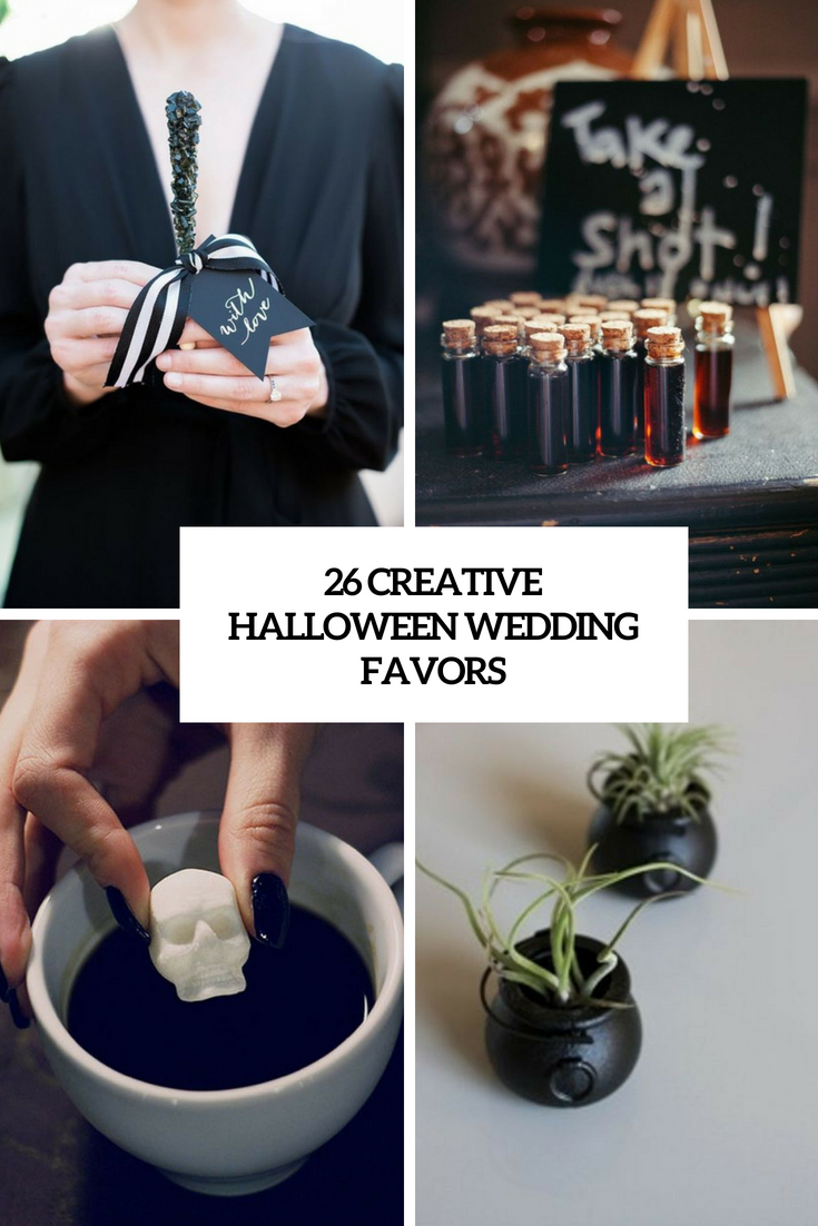 26 Creative Halloween Wedding Favors