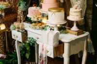 26 if there are several wedding cakes, place them at different heights, the largest one the higher than the rest