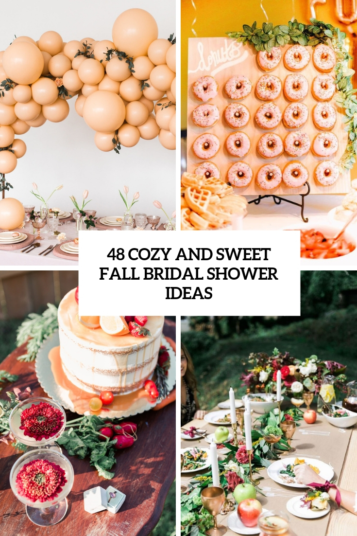 cozy and sweet fall bridal shower ideas cover