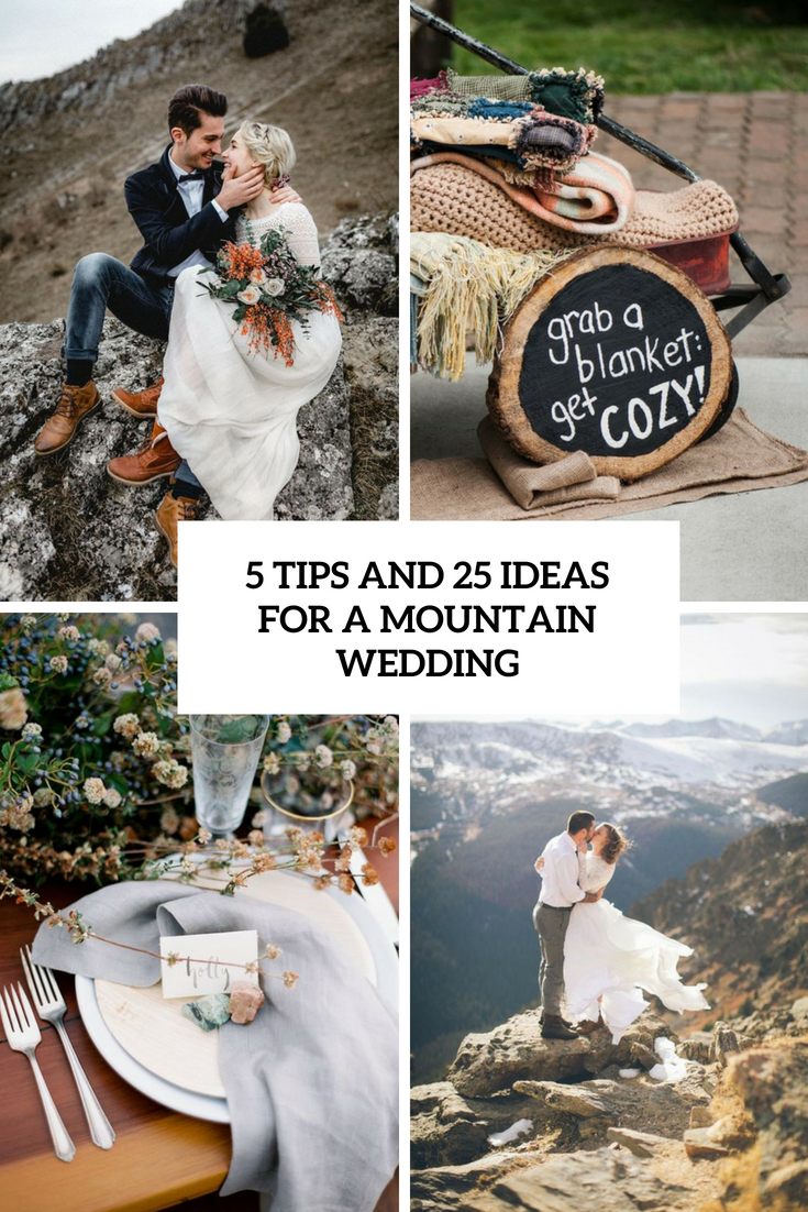5 tips and 25 ideas for a mountain wedding cover