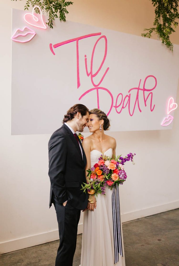 Colorful Wedding Shoot With Whimsy Touches