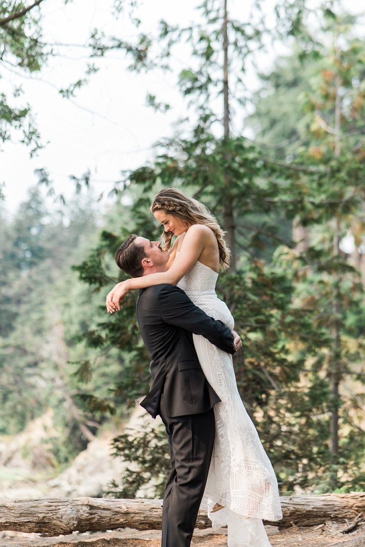 This couple went for a boho chic wedding with an elegant feel and much greenery