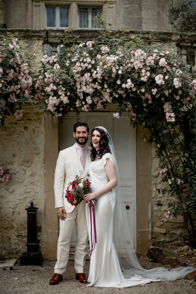 This couple went for an art deco wedding in the south of France