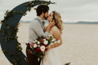 01 This desert elopement featured some edgy details and amazing boho touches to inspire couples to elope
