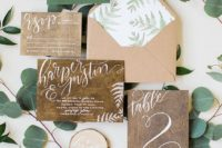 02 a rustic wedding invitation suite made of recycled paper completely can be catchy and cool