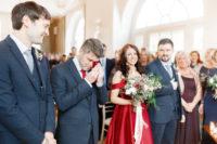 04 The groomsmen were wearing the same suits of wool and grey ties