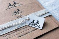 04 personalized letterpressed wedding invitations to a woodland boho wedding