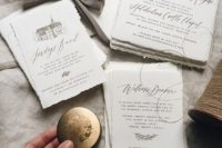 06 hand painted calligraphy wedding invitation suite is a trendy idea for a modern wedding