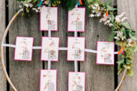 rustic-looking seating chart design