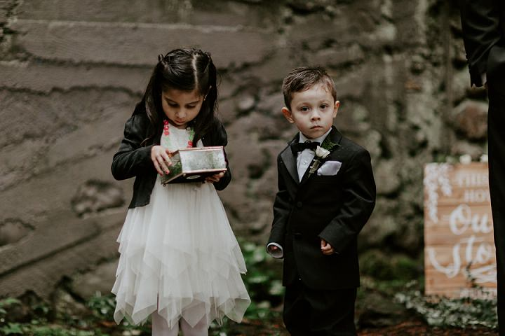 The kids were little ring bearers of the couple and they liked that