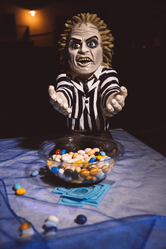 Beetlejuice was offering some candied almonds as wedding favors