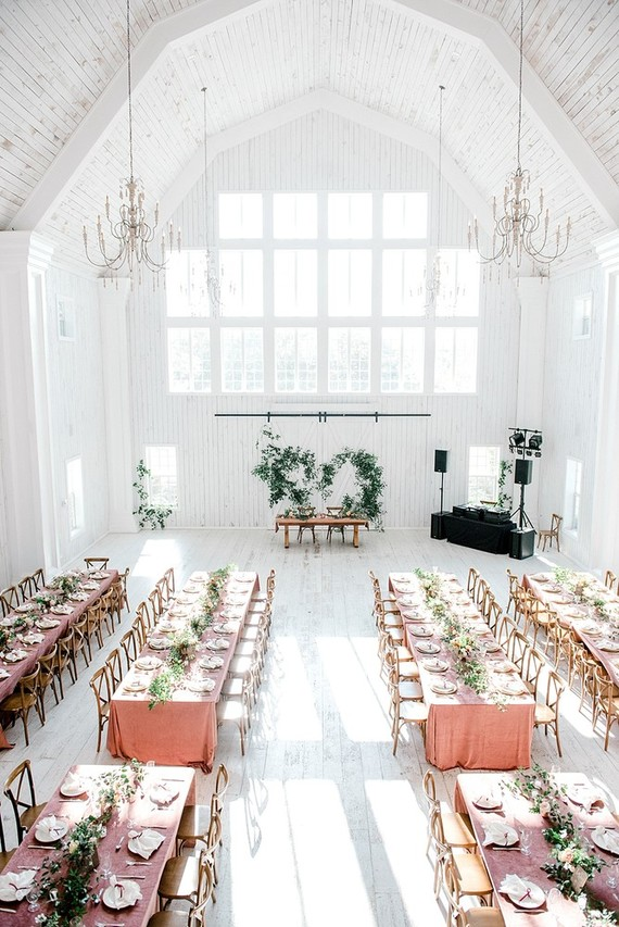 The reception space felt airy and very inviting